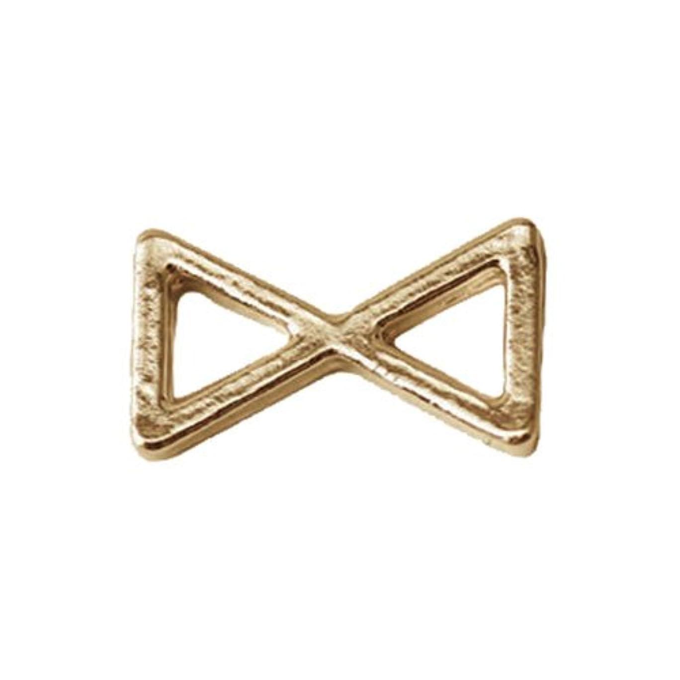 衣服アンペア耐えられるプリティーネイル ネイルアートパーツ プレーンリボンS ゴールド 15個