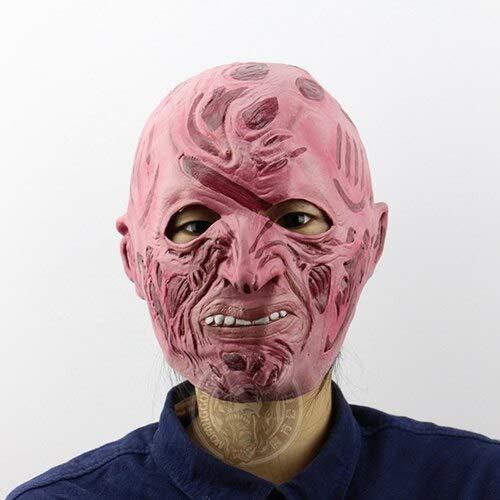 Dodom Realistische Spielzeug Krüger Kostüm Requisiten Latex Freddy Maske Halloween Horror Ghost Zombie Freddy Jason Maske, Bildfarbe
