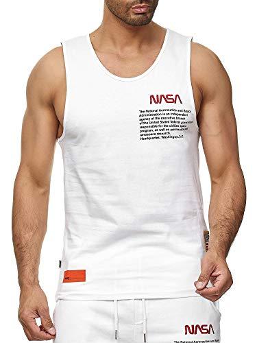 Red Bridge M1835 - Camiseta sin mangas para hombre, diseño de la NASA con logotipo de Estados Unidos Blanco XL