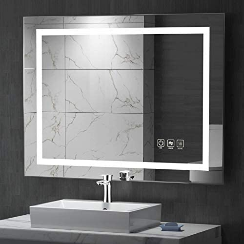 UVII 32 x24 LED Lighted Bathroom Mirror Horizontal Vertical Wall Mounted Vanity Mirror with product image