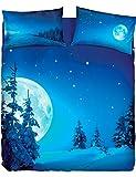 Bassetti Copripiumino Full Moon Singolo (Sacco cm.155x200+ pattella cm.45 =245 + 1 sotto Lenzuolo 90x200 + 1 Federa)