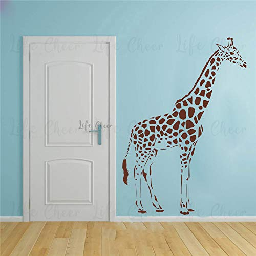 mlpnko Giraffe animal vinyl removable wall sticker sofa background living room decoration family mural,CJX13466-73x103cm