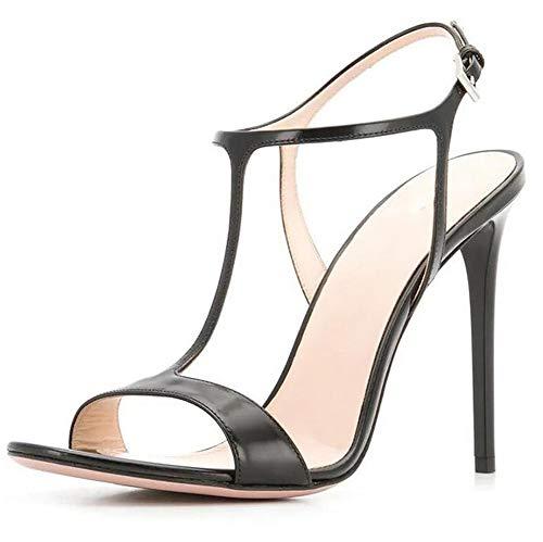 Mujer Stiletto Sandalias Zapatos Hechos a Mano Correa con Hebilla en el...