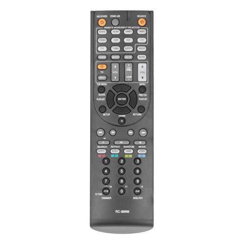 Dpofirs RC 896M Reemplazo de Control Remoto para On-kyo Power Emplifier AV Receiver RC 737M RC 801M RC 836M, 10 m de Larga Distancia de Control Control Remoto Negro para Smart TV