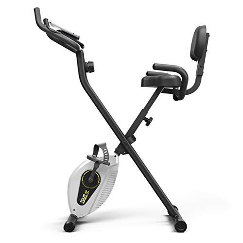 Bluefin Fitness Tour XP Indoor-Bike | Fitnessgeräte für Zuhause | Stabiler Stahlrahmen | Faltbar | 8 x Widerstandsstufen | Herzfrequenzsensoren | Kompatibel mit Kinomap App | 5 Jahre Garantie | LCD