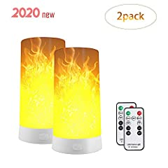 【Four-Flame Modes】This Flame Light can replace traditional led flame bulbs works as a independent flame light fixture.There are three flame modes: flame simulation mode,breathing mode, general light mode and gravity sensing mode,the flame light is di...
