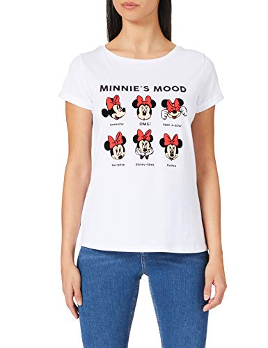 Springfield Camiseta Minnie Moods, Blanco, M para Mujer
