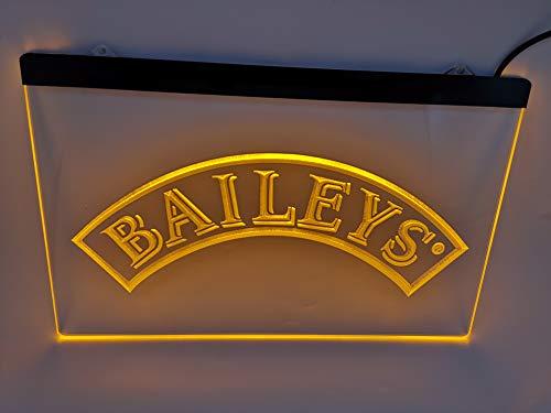 yellow baileys Bar Pub Led Light Sign