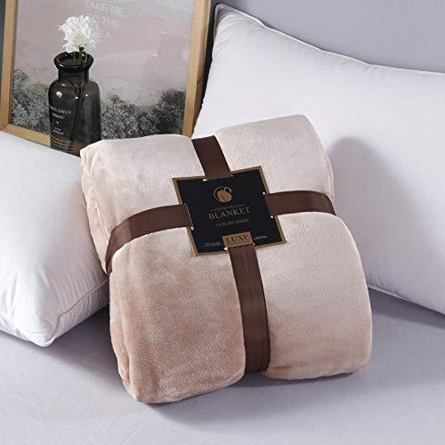Asbecky Manta Sofa De Pelo Manta de Felpa Suave de Franela para sofás/sofás - Manta de Cama Ligera, cálida y acogedora Hermosos Colores-marrón_Los 200x230cm