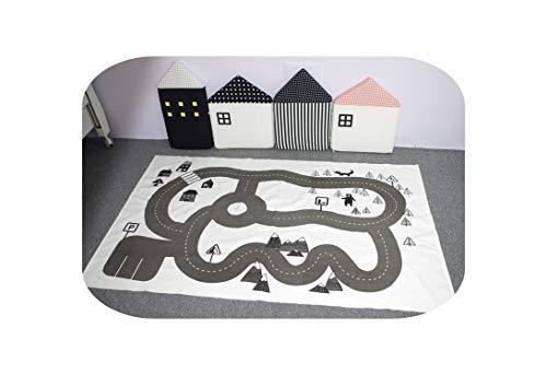 Teppiche Home |Baby Hopscotch Gym Mat Decke Infantil Spielmatte für Kinder Spielteppich Pädagogischer Sport Krabbelmatten Kinder Matten-Rechteck Expressway-siehe unten für Größenbeschreibung