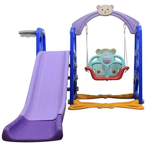 LUGUO 3 in 1 Children Slides, Toddler Climber and Swing Set, Unisex Kids Play Slide, Easy Assembly Climbing Frames for Children Aged 3-9, Sturdy Slide for Indoor Outdoor Garden Playground Backyard