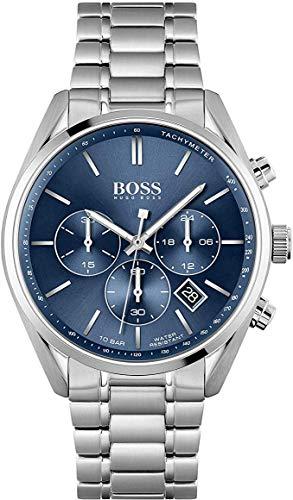 Hugo Boss Reloj Analógico para Hombre de Cuarzo con Correa en Acero Inoxidable 01513818