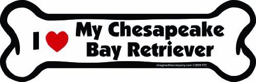 Imagine This Bone Car Magnet, I Love My Chesapeake Bay Retriever, 2-Inch by 7-Inch