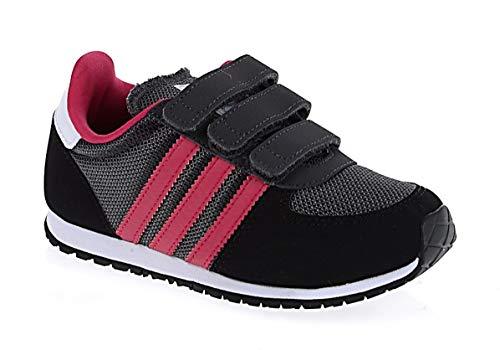 adidas Originals Adistar Racer Kinder Schuhe Sneaker Gazelle SCHWARZ GRAU PINK, Farbe:Dunkelgrau, Schuhgröße:EUR 23 1/2