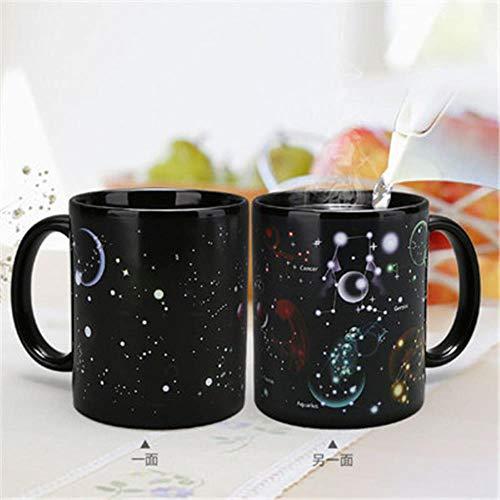 Creatieve keramiek Magic Mug Drink Cup kleurwisselbeker Star Solar System Koffiekopjes huishouddrank 330 ml stijl 4