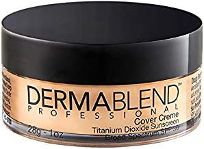 Dermablend Cover Creme High Coverage Foundation with SPF 30, 35C Medium Beige, 1 Oz.
