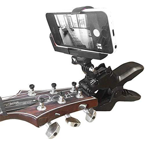 YXT Ständer KFZ Halterung Klammer Fono Handy Smartphone-Clip Und Für Gopro Action Kameras - Home Recording Gitarre Close Up Ukulele Clip