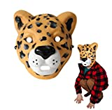Wild Faces - Leopardo de Deluxebase. Caretas Infantiles de Espuma Segura