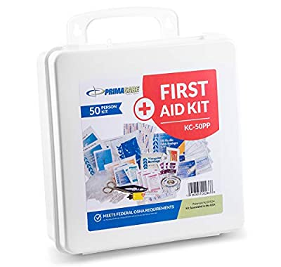 Primacare Compact Emergency Preparedness First Aid Kit for Home, School and Office, Wall Mounted from Primacare