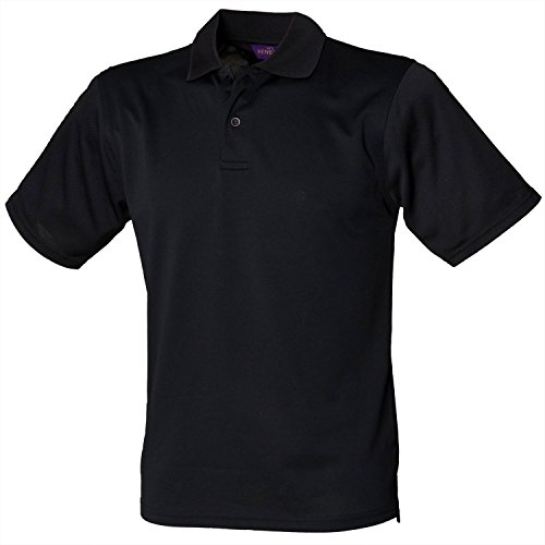 Henbury Coolplus Polo - Noir - XL
