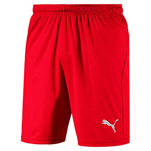 PUMA Herren Liga Shorts Core with Brief Hose, Red White, M