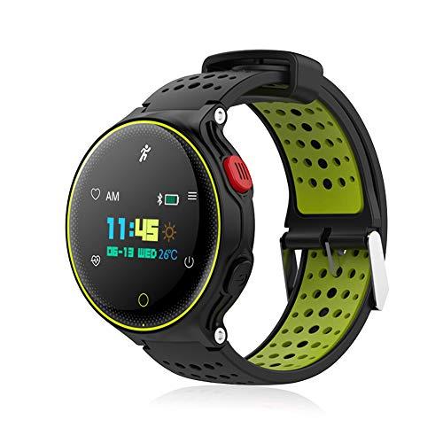 Padgene Pulsera Deportiva Inteligente Salud, IP68 Impermeable Pulsera Inteligente con Ritmo Cardíaco Monitor Podómetro Fitness Rastreador de Actividad para Android e iOS (Verde Negro)
