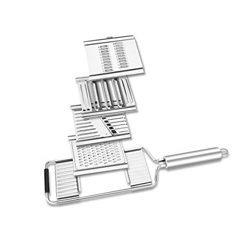 Grater for Kitchen Multi Purpose Vegetable Slicer Hand-held Stainless Steel Cheese Grinder 4 Blades