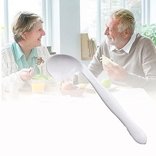 BDXZJ Cuchara de Tenedor Adaptable, Cuchara Antivibración Antivibración Cuchara Angular Antivibración Vajilla Auxiliar para Personas Mayores, Parkinson, Artritis Discapacitados Right