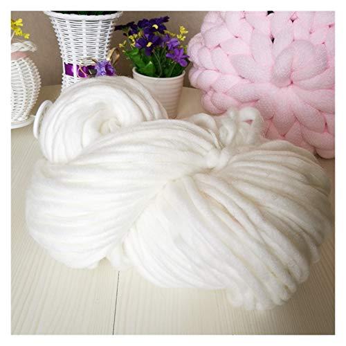 LHSJYG Thick Yarn,Arm Knitting Línea Bufanda de 8 mm. Hilado de suéter Grueso (Color : White)