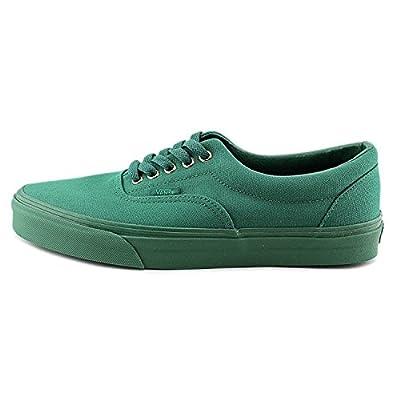 Vans Mens Era Skate Sneakers Gold Mono Verdant Green Canvas