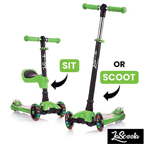 Lascoota Scooters for Kids (Green)