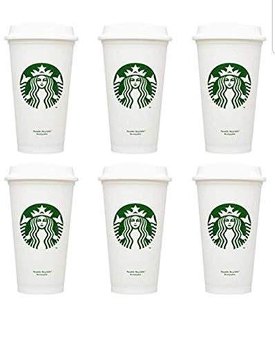 Starbucks Grande wiederverwendbare Becher, recycelbar, Kunststoff, 473 ml, 6 Stück