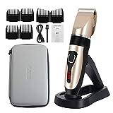 Cortapelos profesional ELOKI para hombres y niños, cortapelos inalámbricos e impermeables, afeitadora profesional recargable por USB, con 6 clippers, cepillo de limpieza, soporte de carga