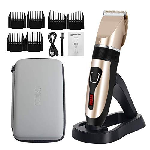 ELOKI Professionelle Haarschneidemaschine für Männer und Kinder, kabellose und wasserdichte Haarschneidemaschine, professioneller USB-aufladbarer Haarschneider für Kinder, Erwachsene und Familien