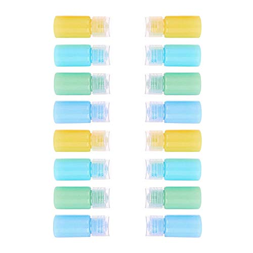 Leere Plastikflaschen mit Klappdeckel, nachfüllbar, für Kosmetik, kleine Reisebehälter, 20 Stück