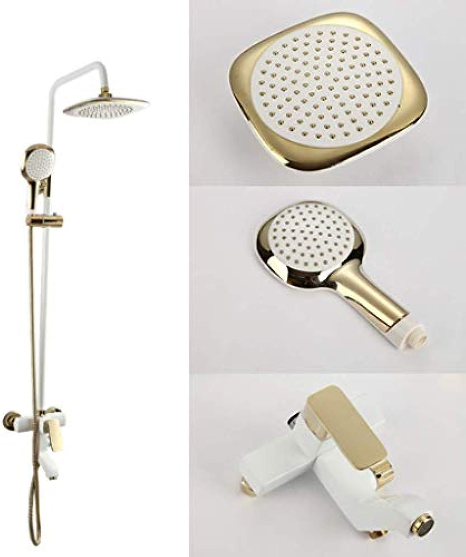 LHW Shower Set chset, Handbrause, Porzellan wei Duschkopf, Hause Multifunktions-Badezimmer Dusche, Wasserhahn Aufzug Wandbrause