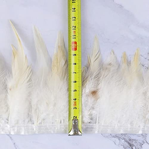 BlackCircle- 1 Meter Rooster Feather 4-6 Trim Width inch Chicken Max 47% Bombing new work OFF