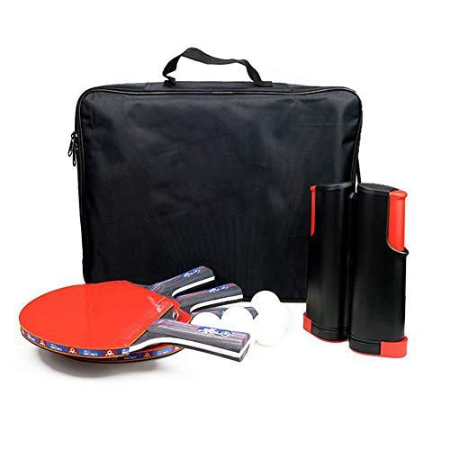 Buy Bargain Portable Table Tennis Net, 7 Layer Wood Ping Pong Paddle/Rackets, 6 Ball+1Racquets+1Mesh...