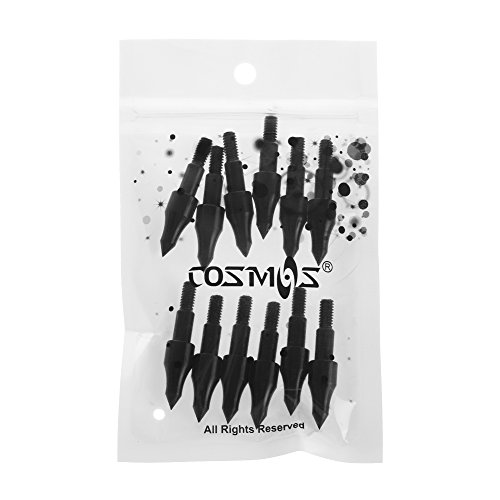 COSMOS Pack of 12 PCS Screw In Archery Bullet Points for Arrows, 100 Grain Each