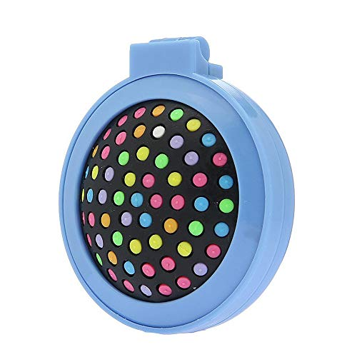 U/K Mini peigne rond pliable avec miroir pour femme - Brosse à cheveux compacte de voyage Pop Up - Pinceau décoratif couleur bonbon - Bleu - 1 pièce - Durable et utile
