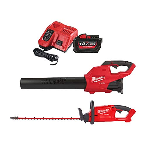 Pack automne MILWAUKEE M18 souffleur FBL-0 – taille-haies CHT-0 – 1 batterie 18V 12Ah – 1 chargeur M12-M18C