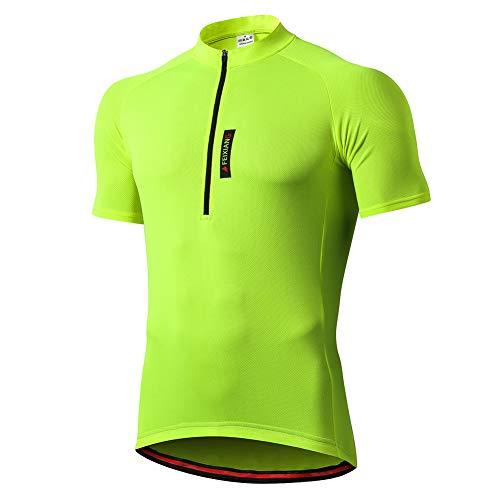 FEIXIANG Herren Fahrradtrikot, Kurzarm Radtrikot Fahrrad Trikot Fahrradbekleidung für Männer, Atmungsaktive Cycling Jersey Radsport Bekleidung