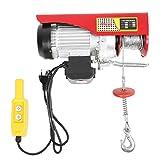 Polipasto Eléctrico 300/600 kg Cable Eléctrico con Mando a Distancia para Taller Almacén 220V