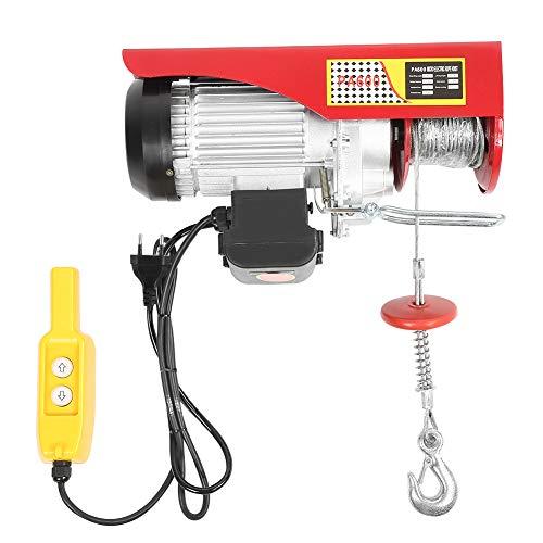 Ejoyous 300 / 600kg Elektrische Seilwinde, Motorwinde Flaschenzug Hebezug Seilhebezug Kettenzug mit Automatischen Bremse und Wärmeschutzvorrichtung Hubhöhe 6m /12m EU Stecker 220V