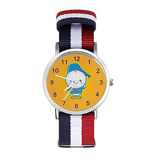 Donald Duck Reloj con correa tejida a escala ajustable muñeca linda personalidad unisex