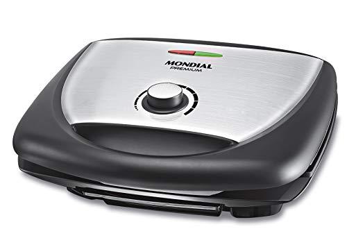 Grill Super Premium Inox, Controle de temperatura, 127V, Preto, Mondial - G-09