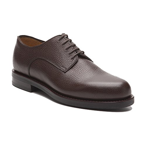 Prime Shoes Graz Braun Scotchgrain Testa di Moro Rahmengenäht Edler klassischer Schnürschuh feinstes Kalbsleder D 44 / UK 10