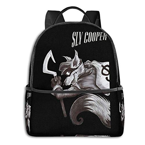 Sly Cooper Laptop Backpack Fashion Theme School Backpack