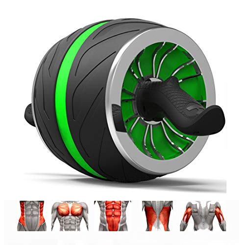 GIYL Ab Wheel Roller Roller Workout-Maschine Ab Big Wheel Roller Bauch-Übung perfekte Fitness für Core-Workouts,Grün