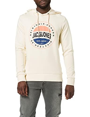 JACK & JONES JORCHRISTENSEN Hood Sweatshirt Capuche, Perle/Coupe : Sweat Fit, XL Homme